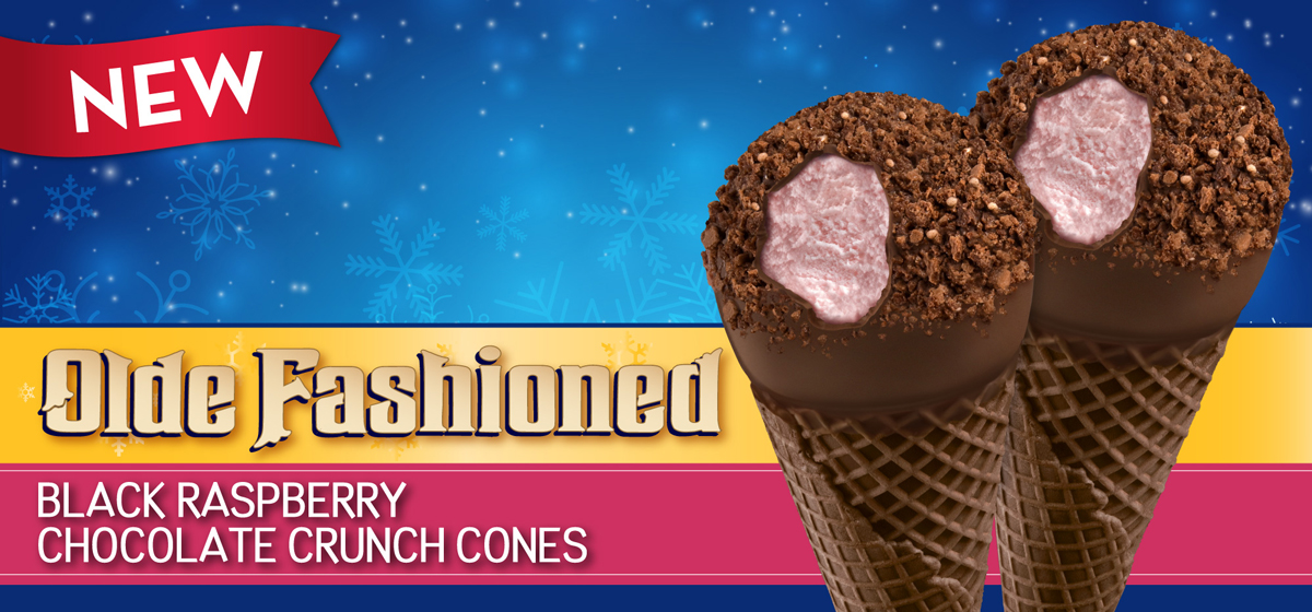 Black Raspberry & Chocolate Cones