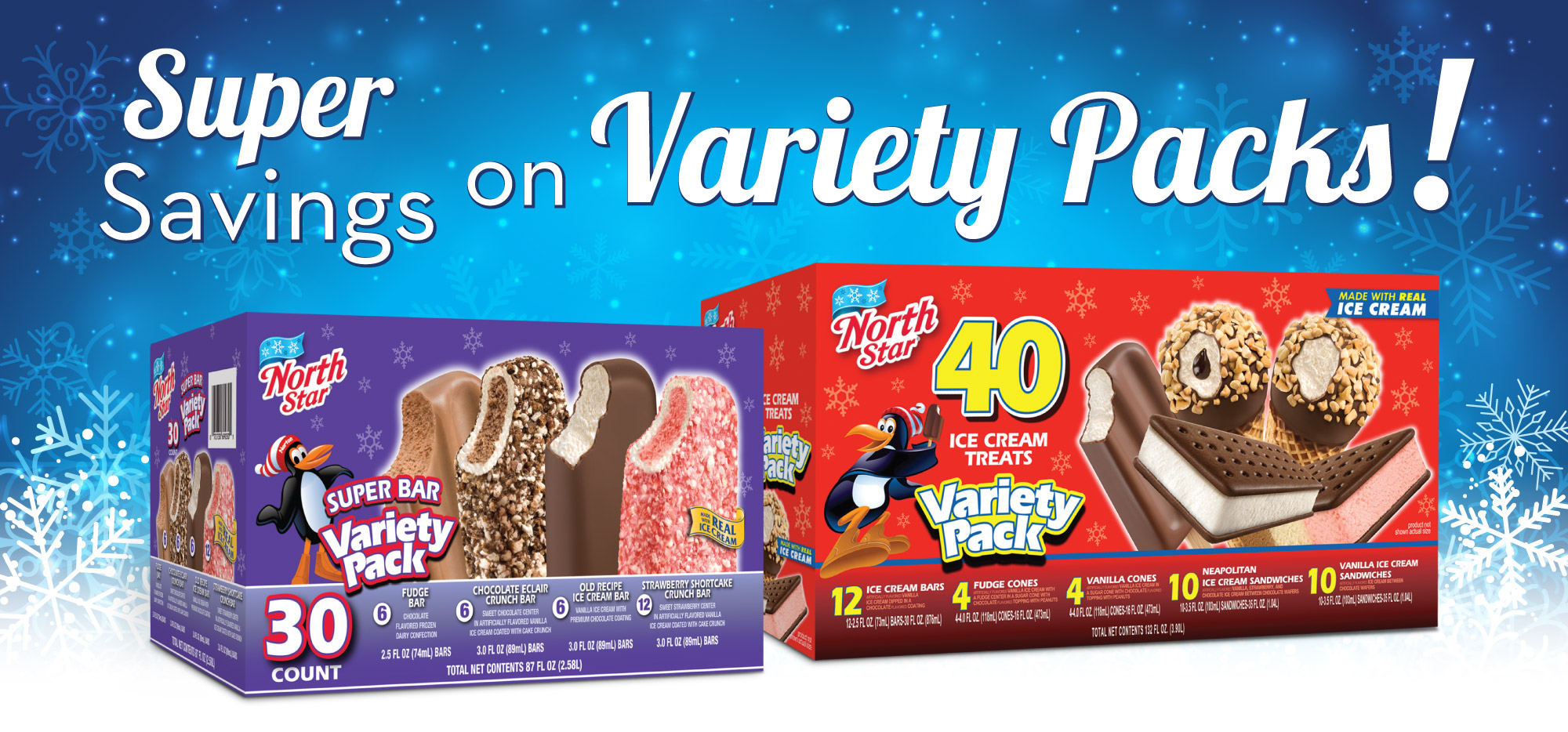 Super Savings on Variety Packs